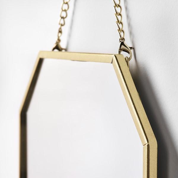 LASSBYN mirror, set of 2 gold-colour