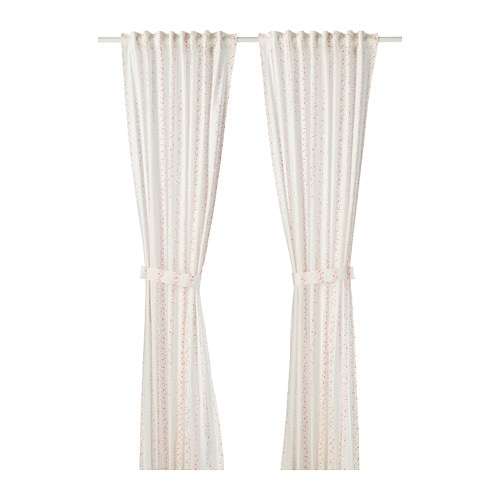 Ikea Lattjo Curtains With Tie Backs 1 Pair Easy To Keep Clean Machine