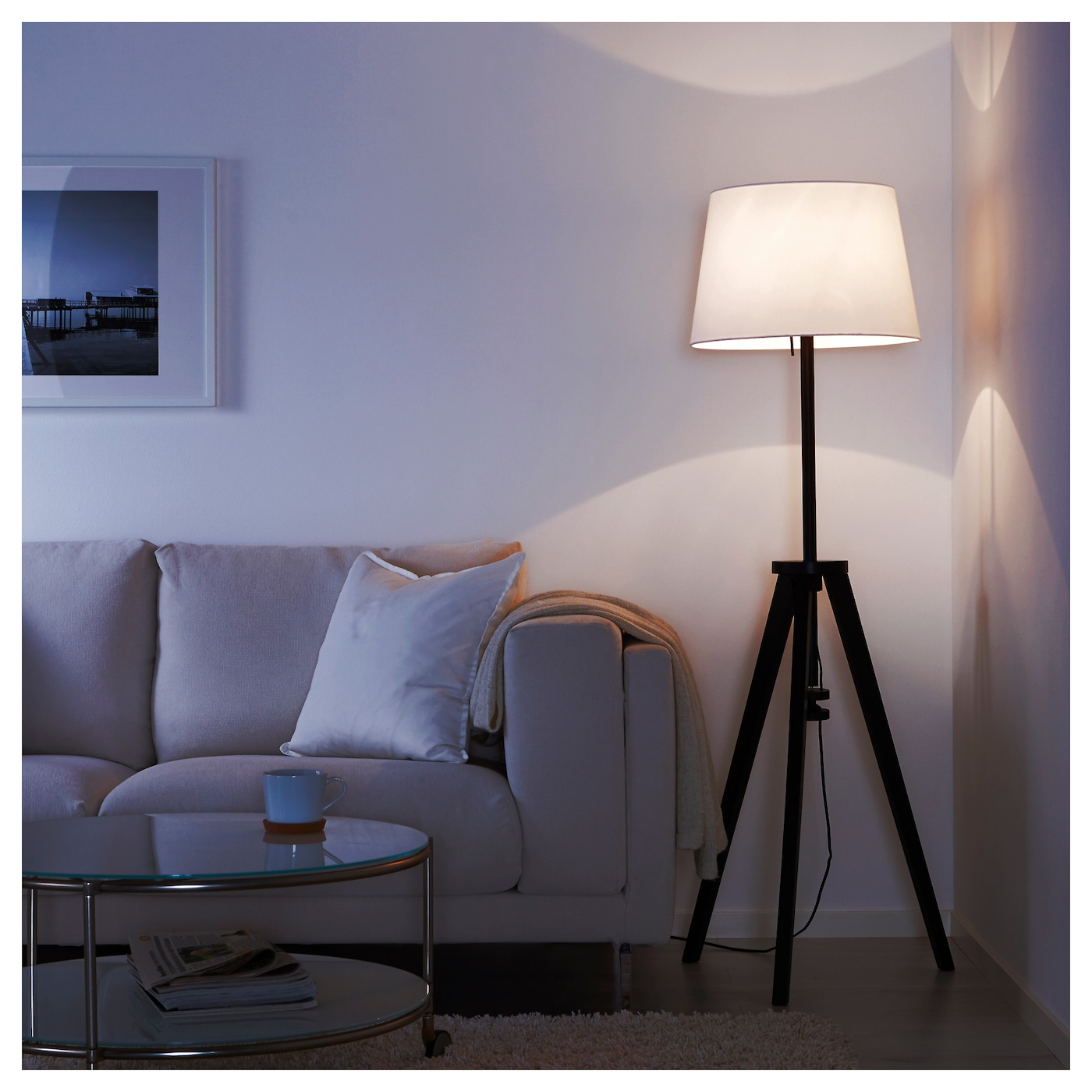 IKEA LAUTERS floor lamp base The height is adjustable to suit your lighting needs.