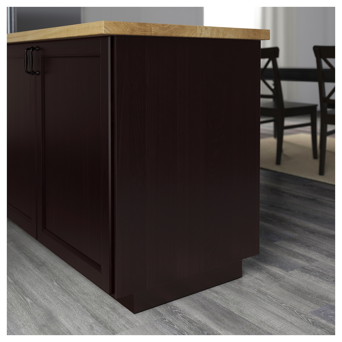 Ikea Kitchen Laxarby: LAXARBY Cover Panel Black-brown 62x220 Cm