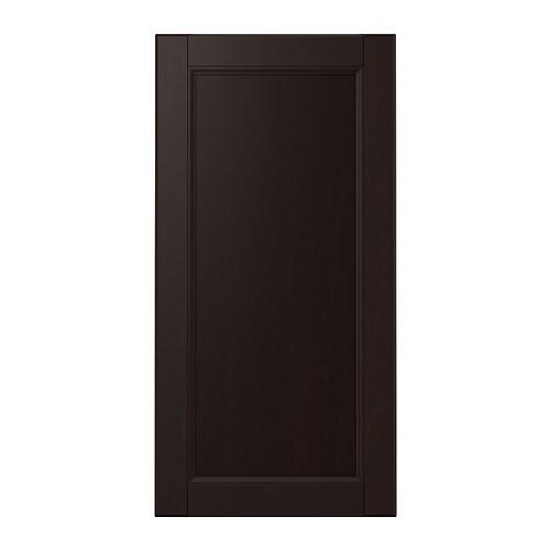 Black Kitchen Cabinet Doors: LAXARBY Door Black-brown 40x80 Cm