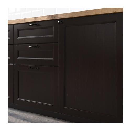 Cuisine noir mat ikea design d 39 int rieur et id es de meubles - Cuisine laxarby ikea ...