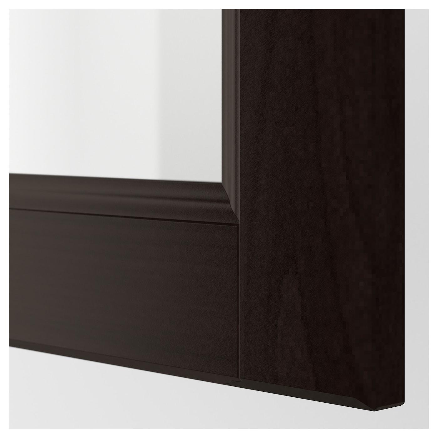 laxarby glass door black brown 40x80 cm ikea. Black Bedroom Furniture Sets. Home Design Ideas