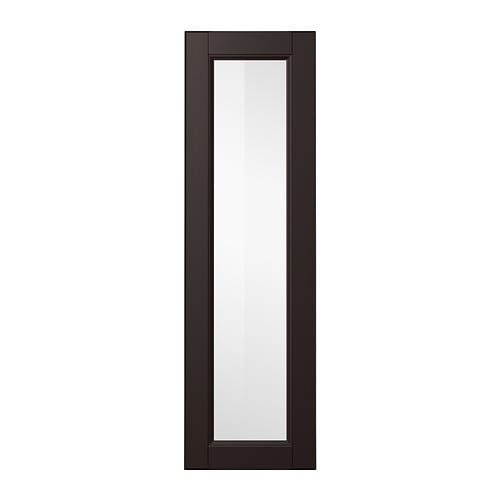 LAXARBY Glass door IKEA LAXARBY door has a distinct traditional character, with a solid wood frame with bevelled edges and an inset veneer panel.