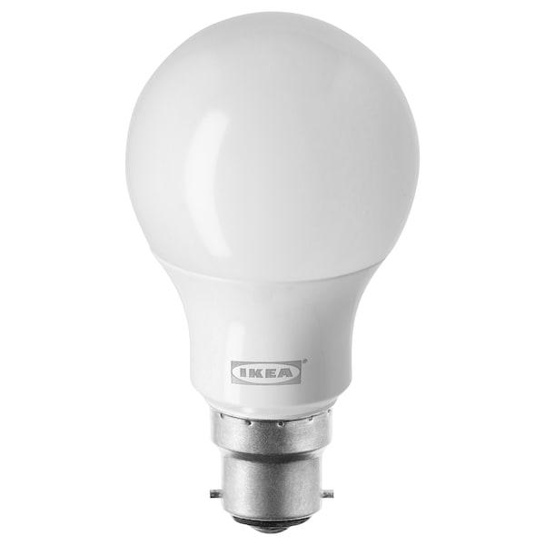 LEDARE LED bulb B22 806 lumen, warm dimming/globe opal white