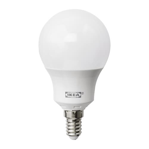 ledare led bulb e14 600 lumen dimmable globe opal white ikea. Black Bedroom Furniture Sets. Home Design Ideas