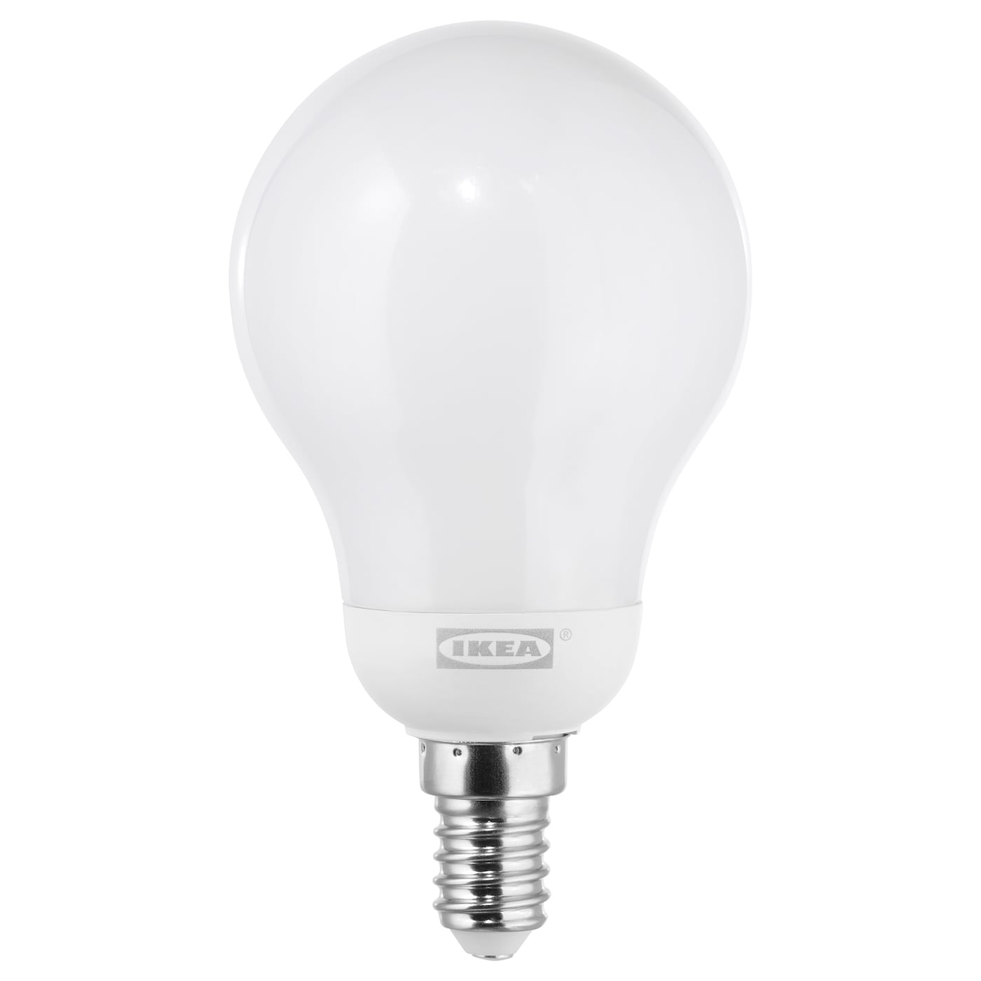 LEDARE LED bulb E14 600 lumen Warm dimming/globe opal white - IKEA