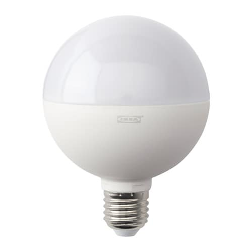 ledare led bulb e27 1800 lumen dimmable globe opal white. Black Bedroom Furniture Sets. Home Design Ideas