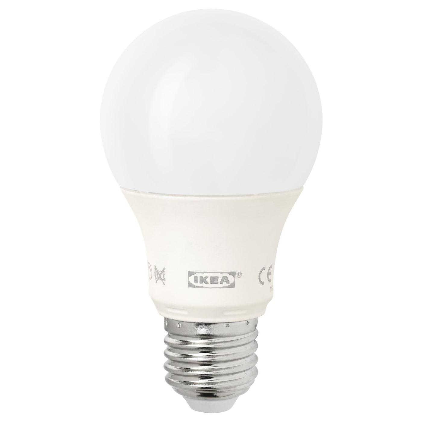 Ledare Led Bulb E27 600 Lumen Dimmable Globe Opal White Ikea