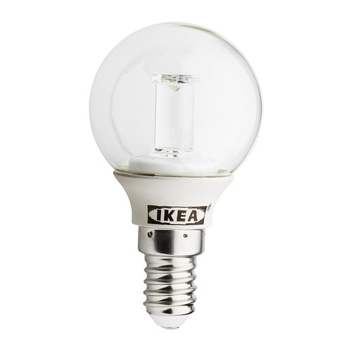 LEDARE LED bulb E14 IKEA Uses LEDs, which consume up to 85% less energy and last 20 times longer than incandescent bulbs.