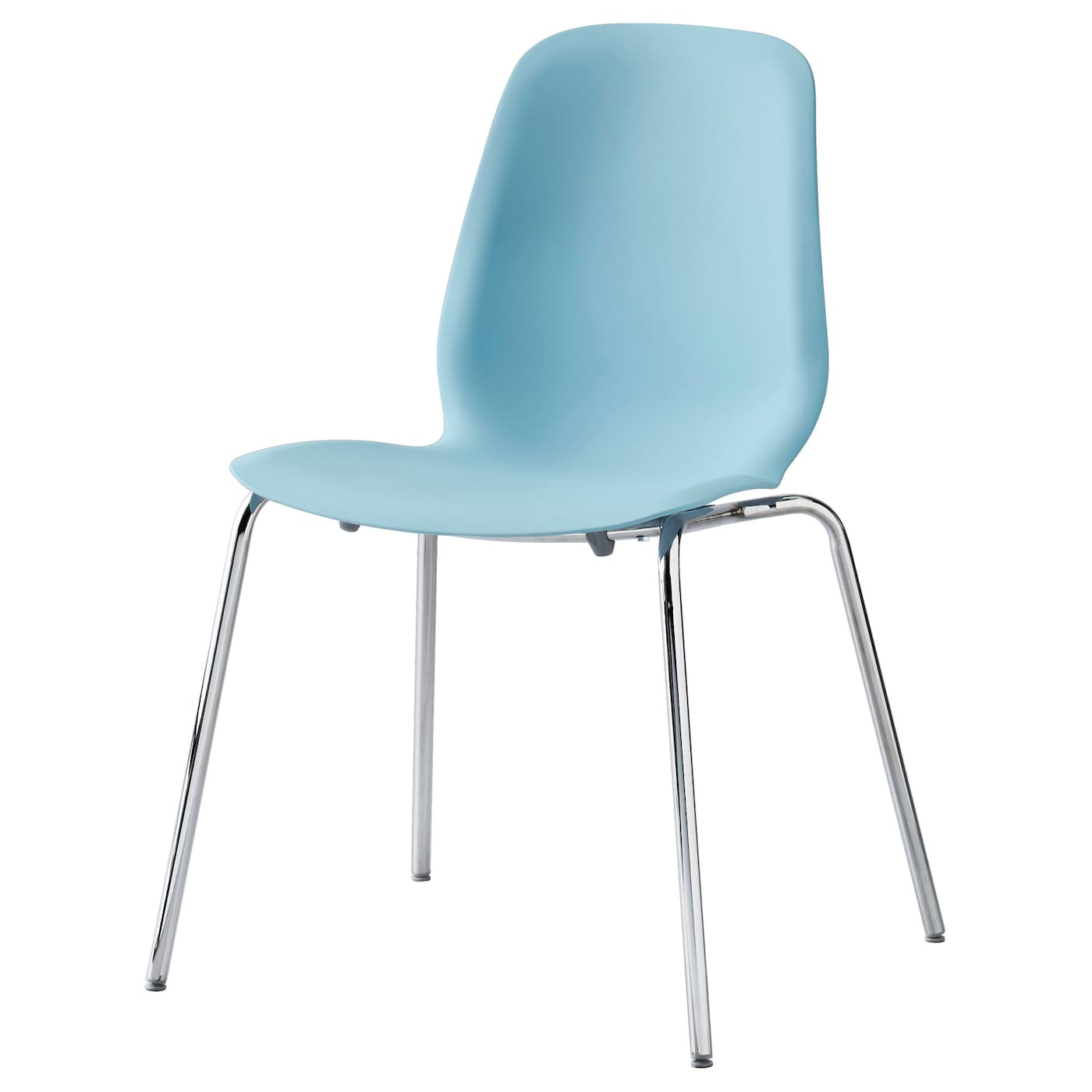 Leifarne Chair Light Blue Broringe Chrome Plated Ikea