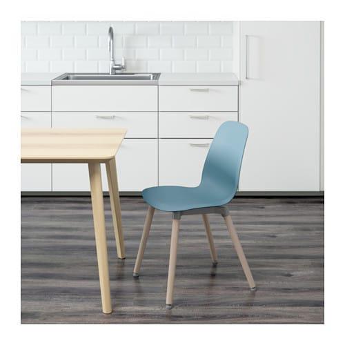 Leifarne chair light blue ernfrid birch ikea - Chaise polycarbonate ikea ...
