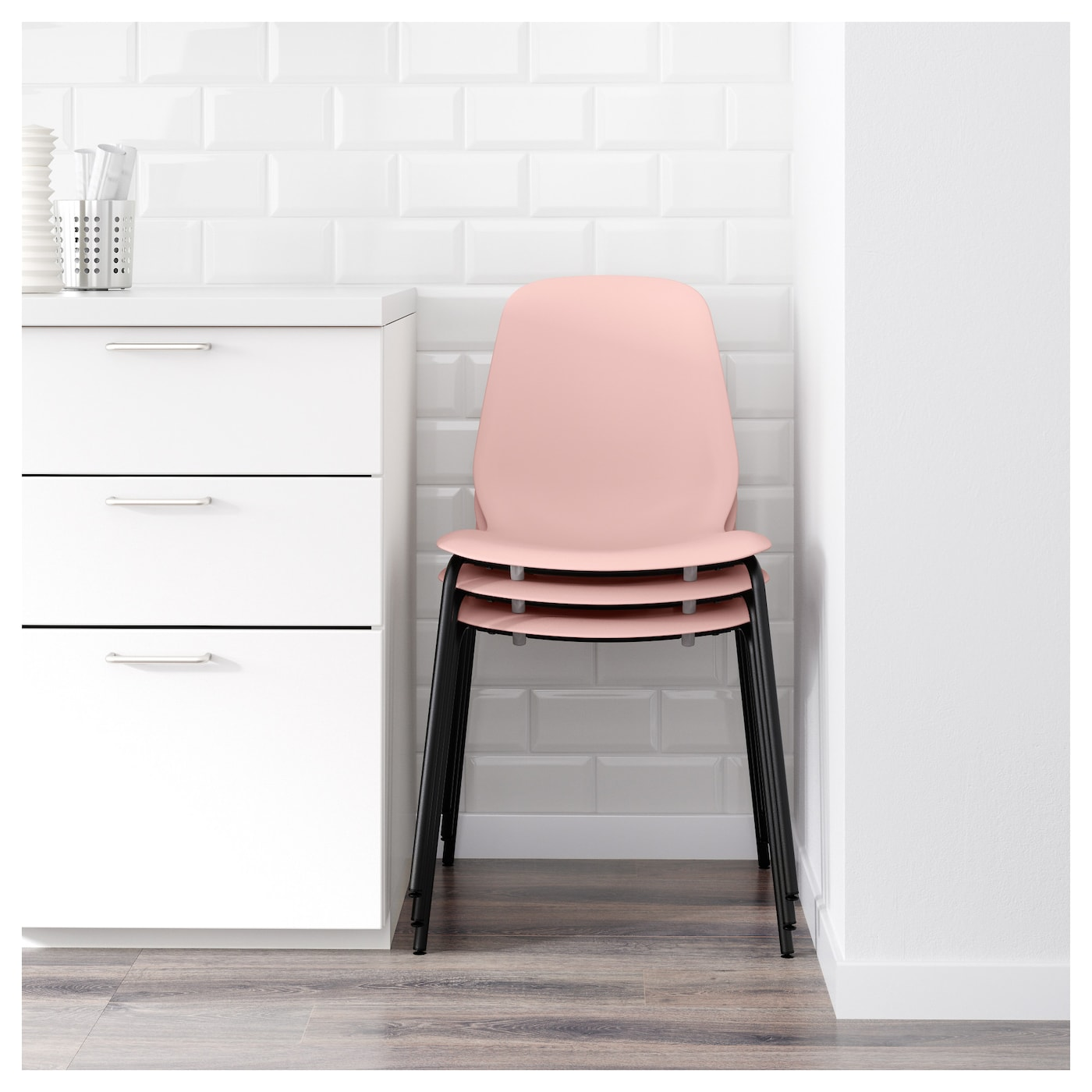 LEIFARNE Chair Pink broringe black IKEA