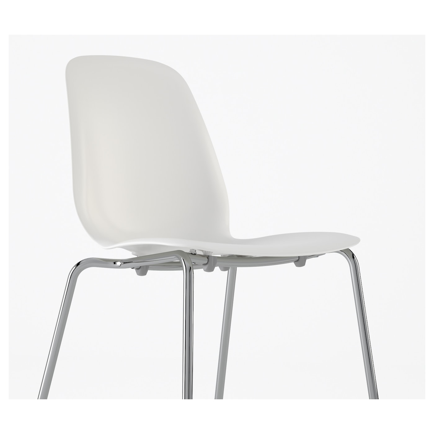 LEIFARNE Chair White broringe chrome plated IKEA