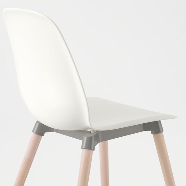 LEIFARNE Chair, white/Ernfrid birch