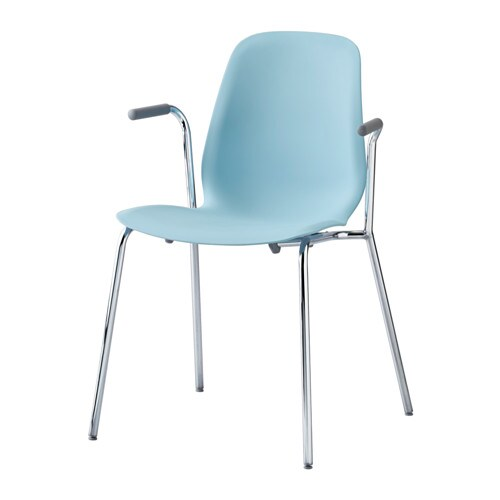 IKEA LEIFARNE chair with armrests The self-adjusting plastic feet adds stability to the chair.