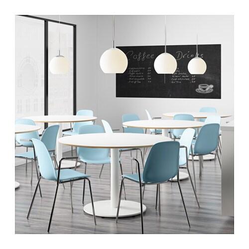 Leifarne chair with armrests light blue dietmar chrome - Chaise polycarbonate ikea ...