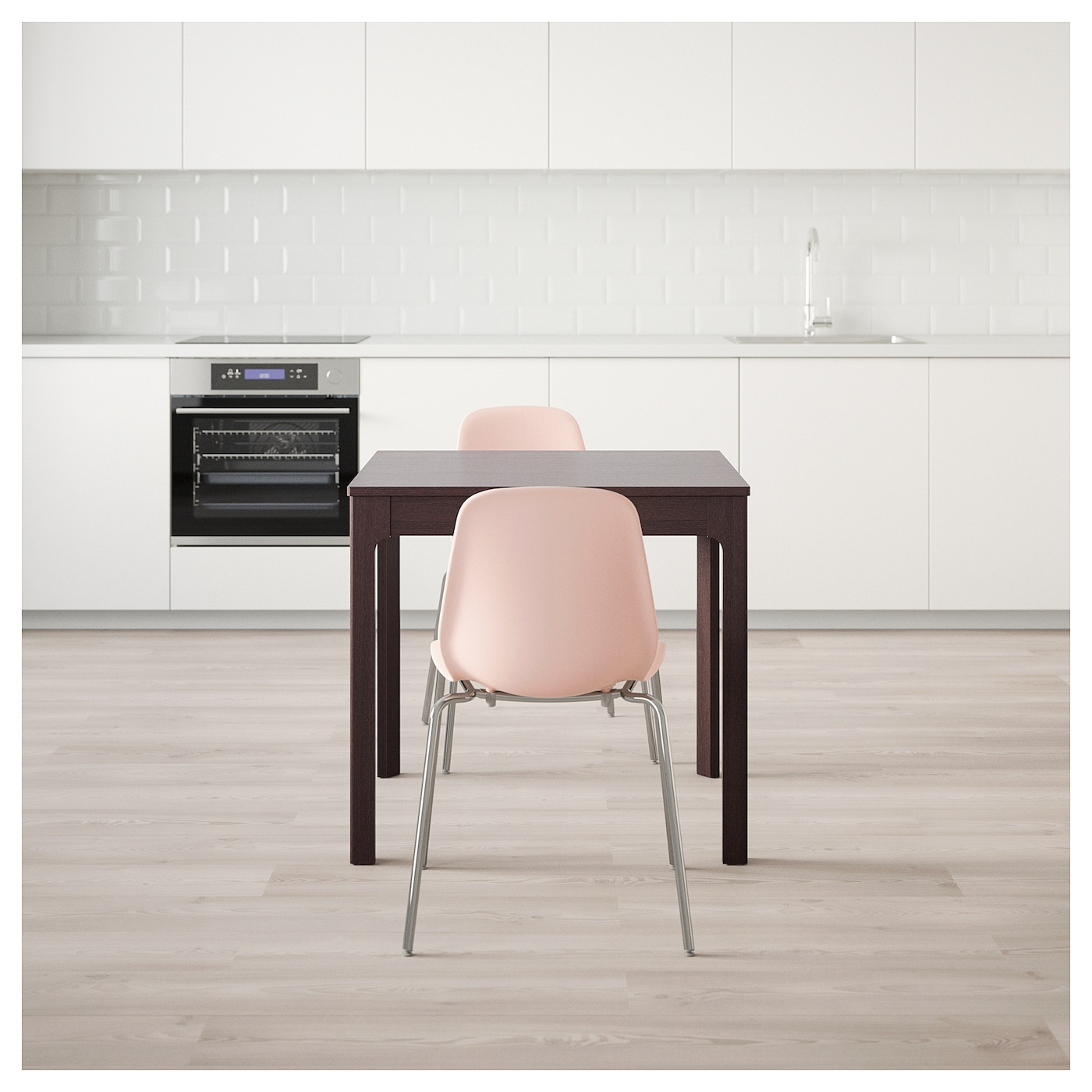IKEA LEIFARNE/EKEDALEN table and 2 chairs Can be easily extended by one person.