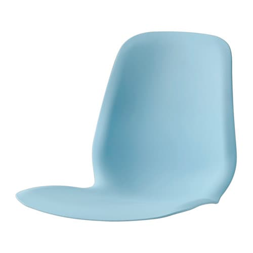 IKEA LEIFARNE seat shell A special surface treatment on the seat prevents you from sliding.