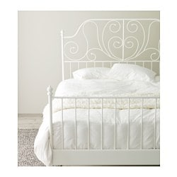 leirvik bed frame white l nset standard king ikea. Black Bedroom Furniture Sets. Home Design Ideas