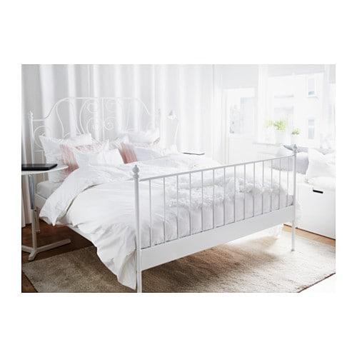leirvik bed frame white/lönset standard king - ikea, Hause deko