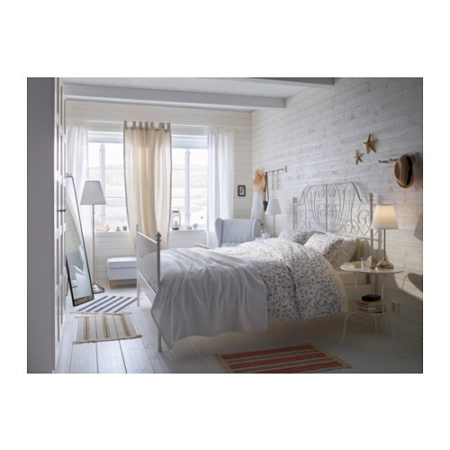 LEIRVIK Bed frame Whitelury Standard Double IKEA