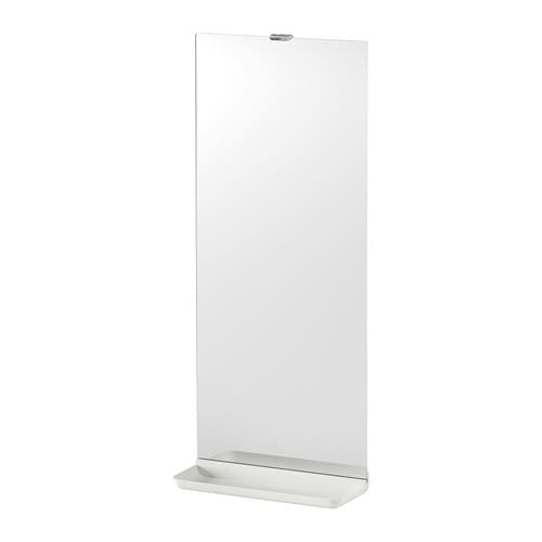 LEJEN Mirror with shelf IKEA Perfect in a small bathroom.  May be used as a shelf for a soap dish and toothbrush mug, thanks to the depth of the frame.