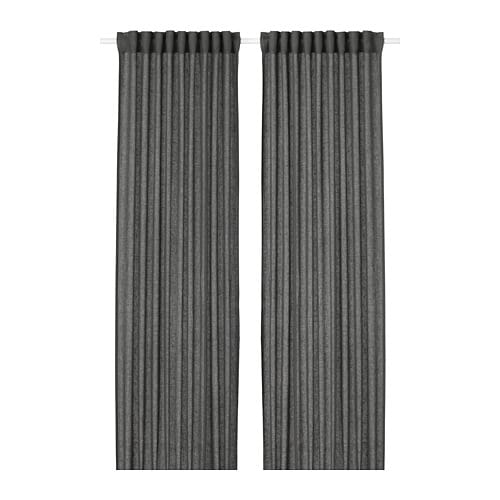 IKEA LEJONGAP Curtains 1 Pair The Can Be Used On A Curtain Rod Or