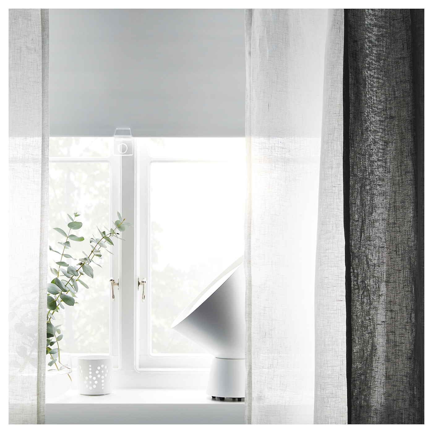 curtain ikea and loose grommet white curtains blinds with together vertical mied