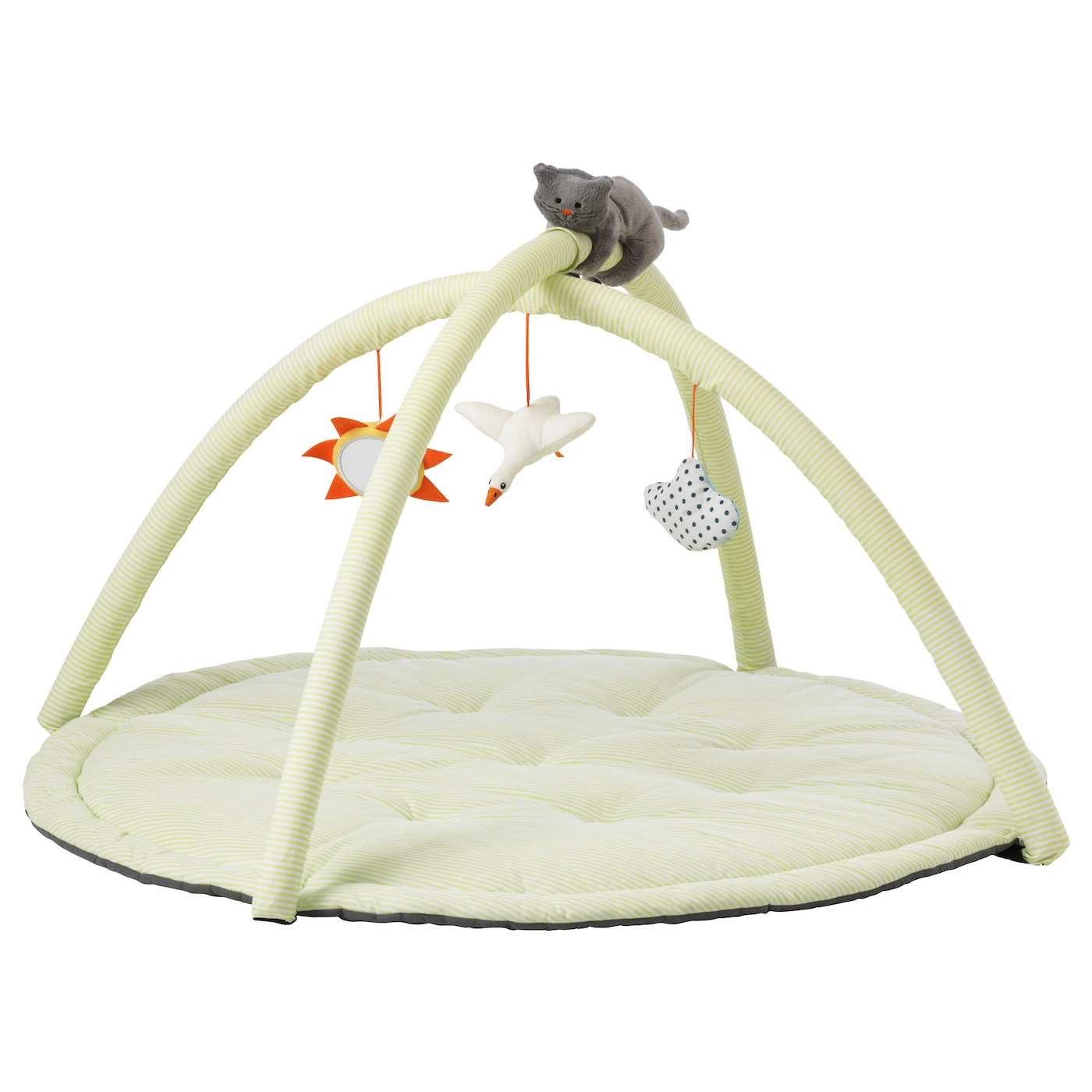 IKEA LEKA baby gym Reaching out for toys stimulates the baby's development of eye-hand coordination.