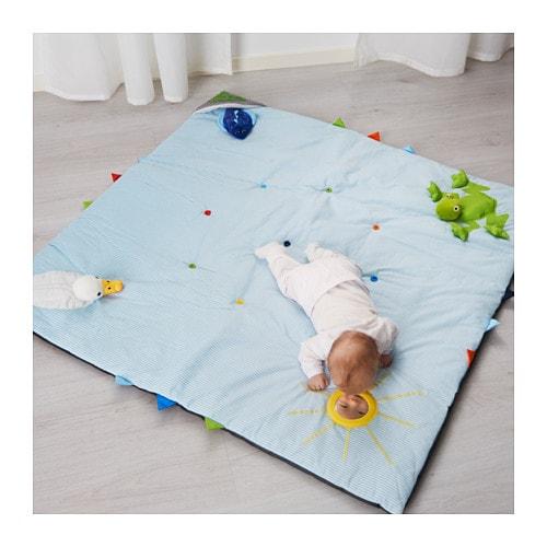 leka play mat blue 118x118 cm ikea. Black Bedroom Furniture Sets. Home Design Ideas