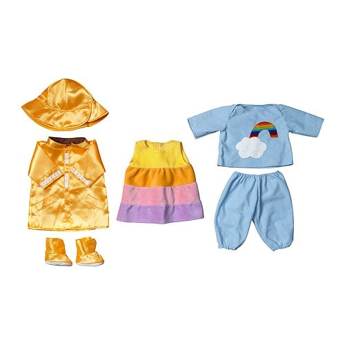 LEKKAMRAT Doll's clothes IKEA Outfits for your child's favourite LEKKAMRAT doll.  Encourages make-believe play.