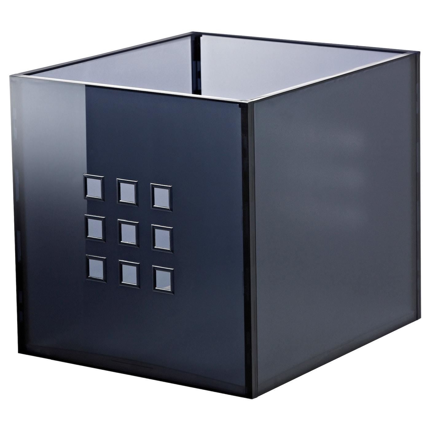 lekman box dark grey 33x37x33 cm ikea. Black Bedroom Furniture Sets. Home Design Ideas