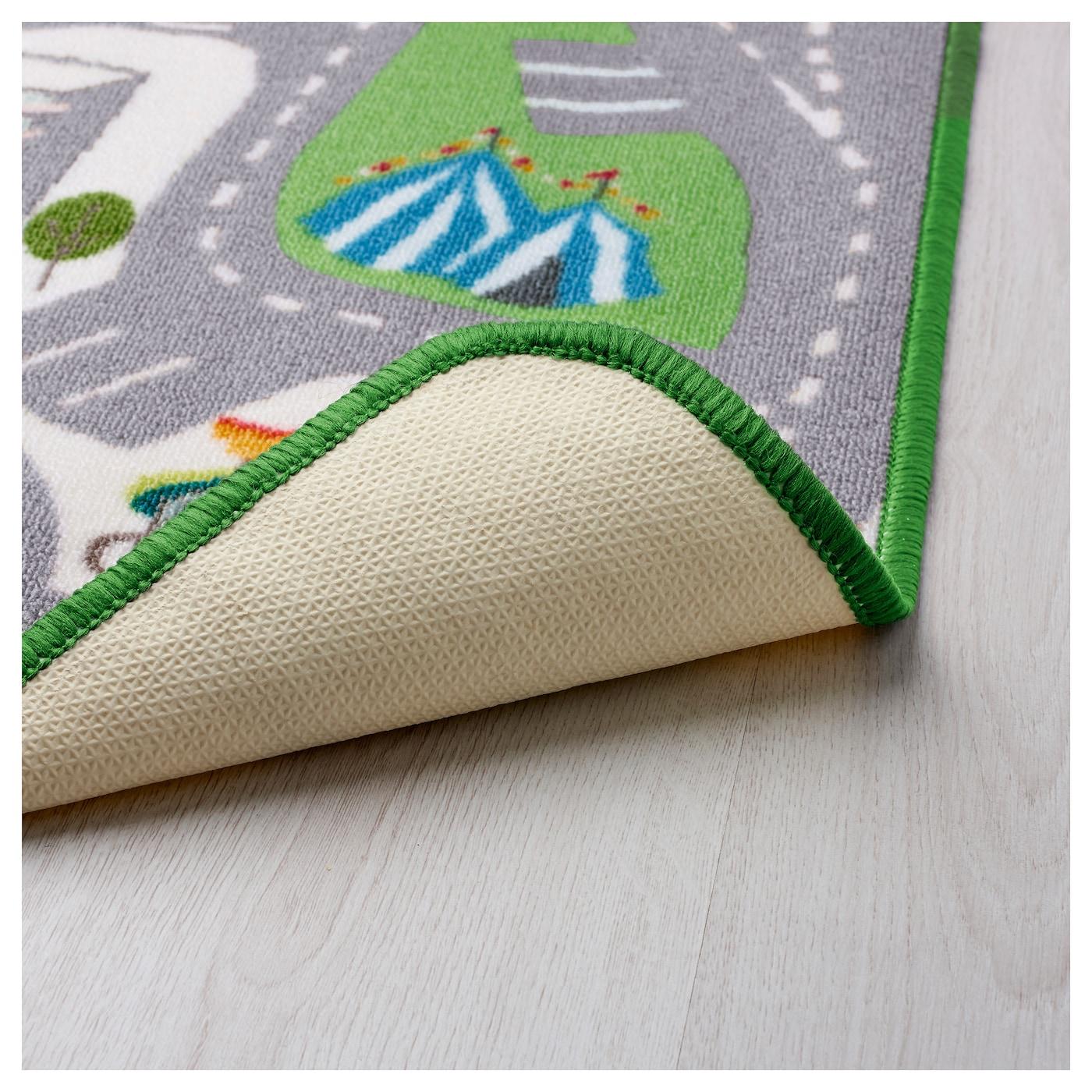 Lekplats rug low pile multicolour 133x140 cm ikea for Ikea childrens rugs