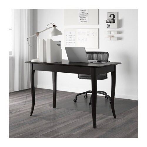 Leksvik desk black 119x60 cm ikea for Catalogue bureau