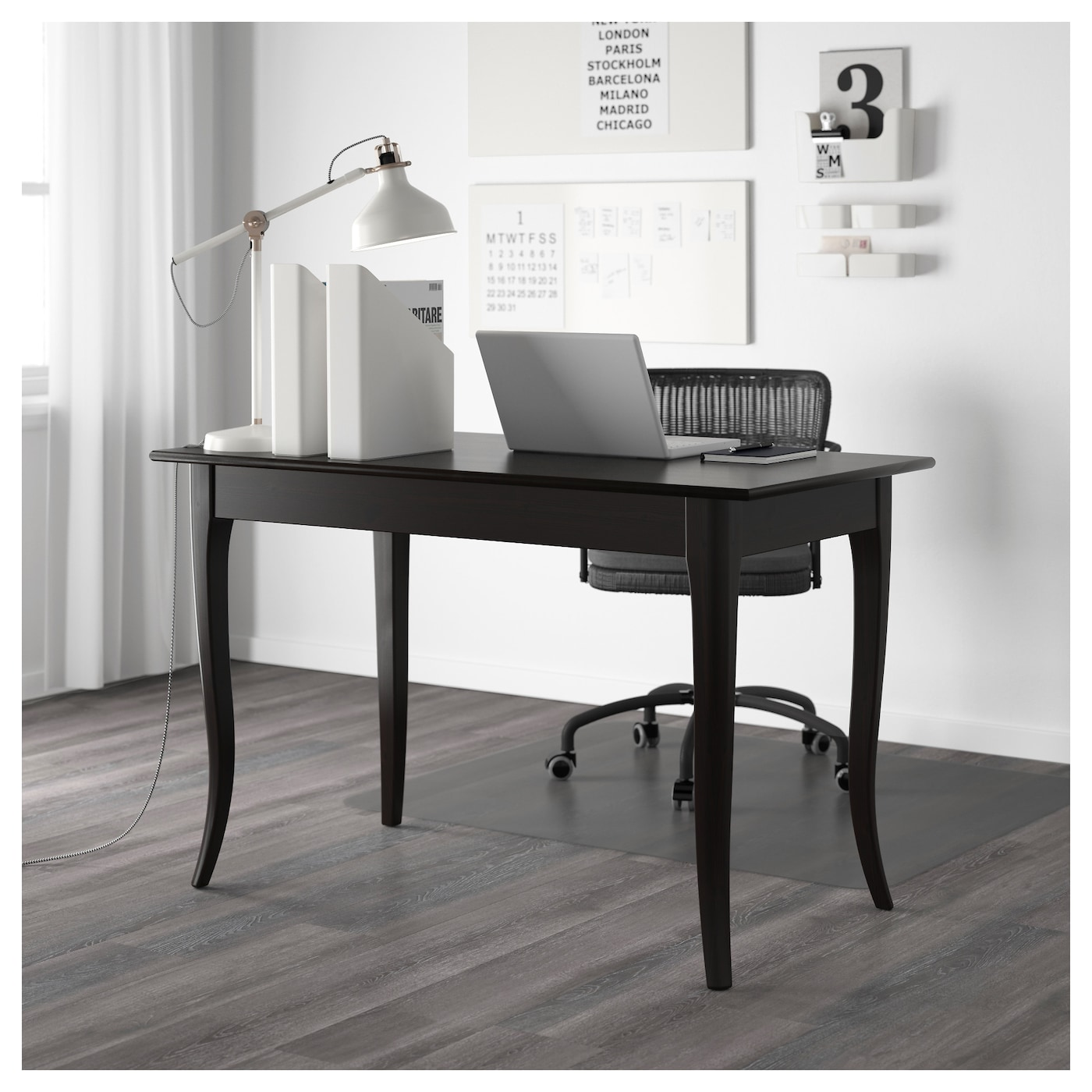 leksvik desk black 119x60 cm ikea. Black Bedroom Furniture Sets. Home Design Ideas