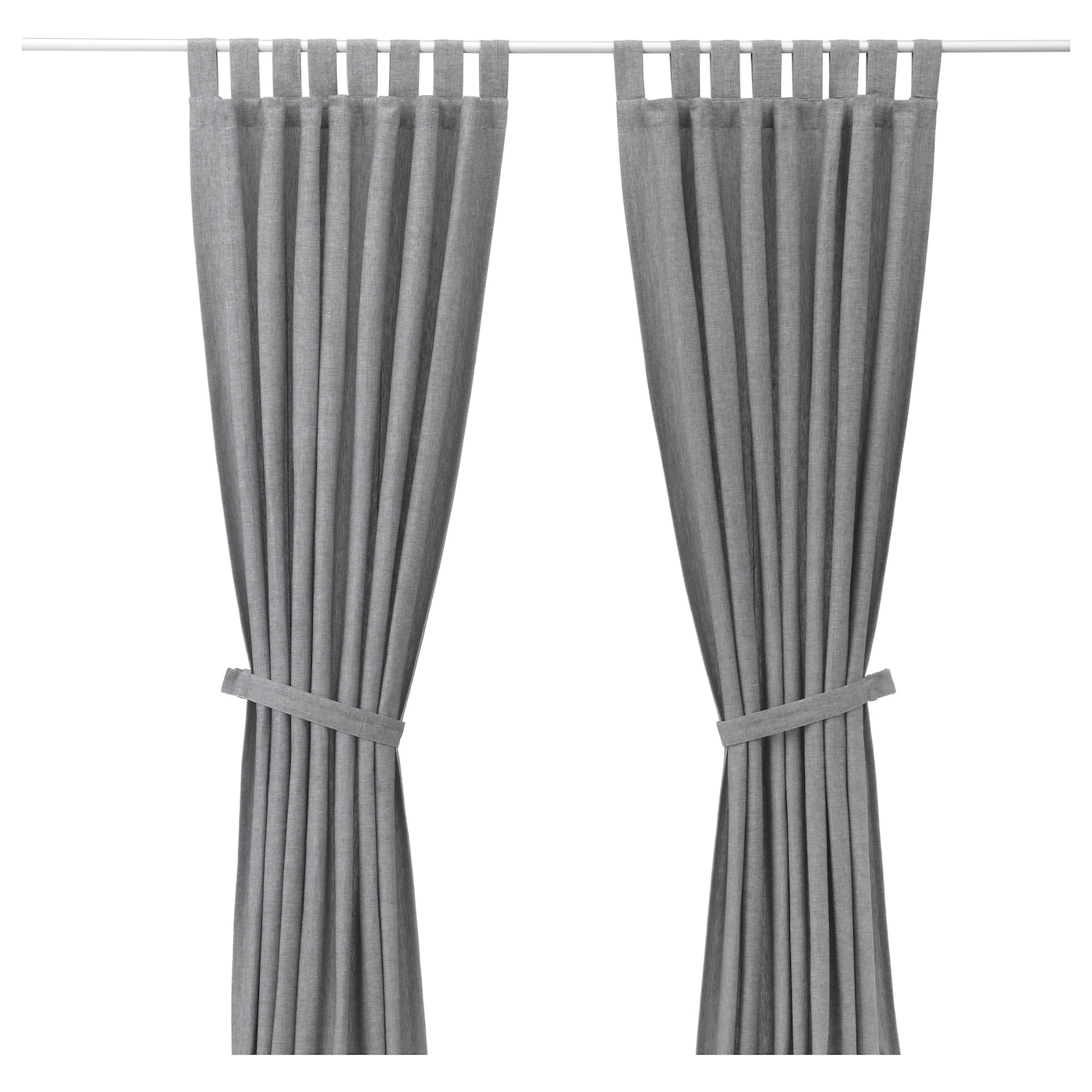 Curtains Lenda Curtains With Tie Backs 1 Pair Grey 140x250 Cm Ikea