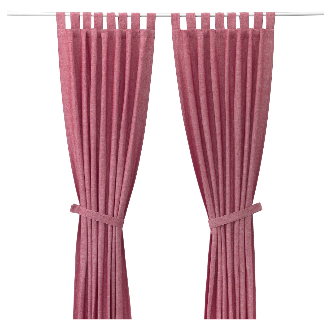 IKEA LENDA Curtains With Tie Backs, 1 Pair