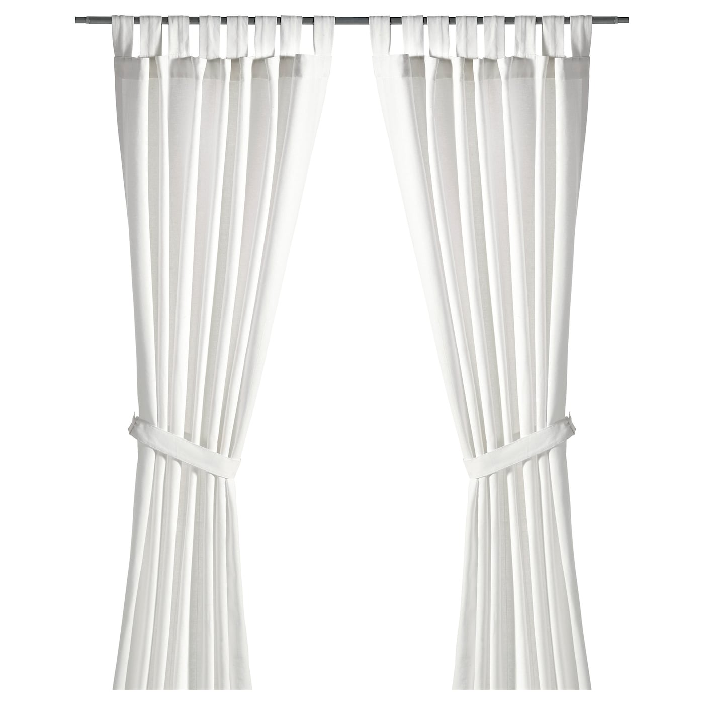 Lenda curtains with tie backs 1 pair white 140x250 cm ikea for White curtains ikea