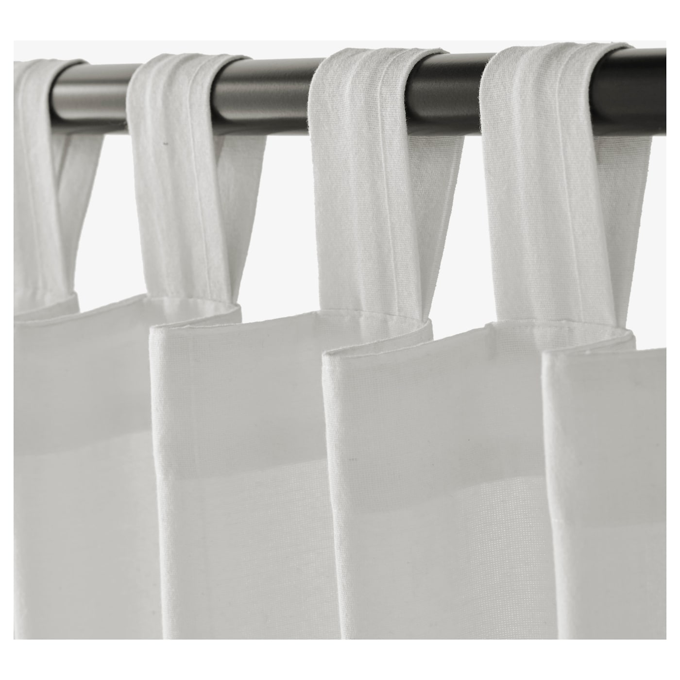 Ikea Lenda Curtains With Tie Backs 1 Pair