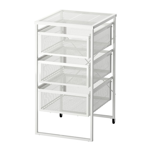 Ikea Lennart Drawer Unit Easy To Move Where It Is Needed Thanks Castors