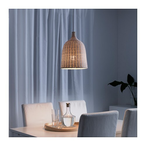 leran pendant lamp rattan 29 cm ikea. Black Bedroom Furniture Sets. Home Design Ideas