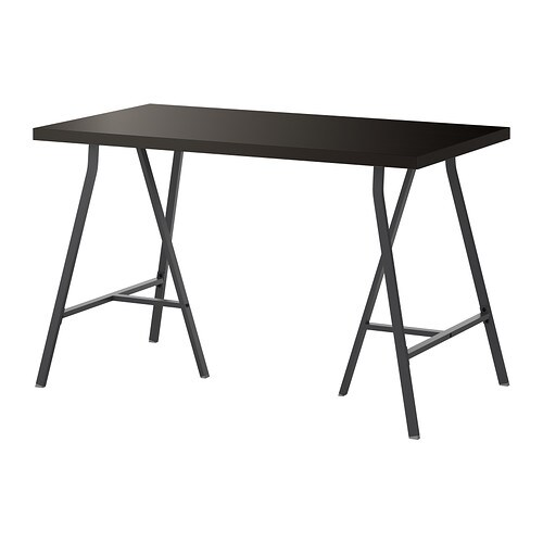 Ikea lerberg  LERBERG/LINNMON Table Black-brown/grey 120x60 cm - IKEA