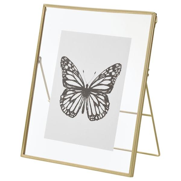 LERBODA Frame, gold-colour, 20x25 cm