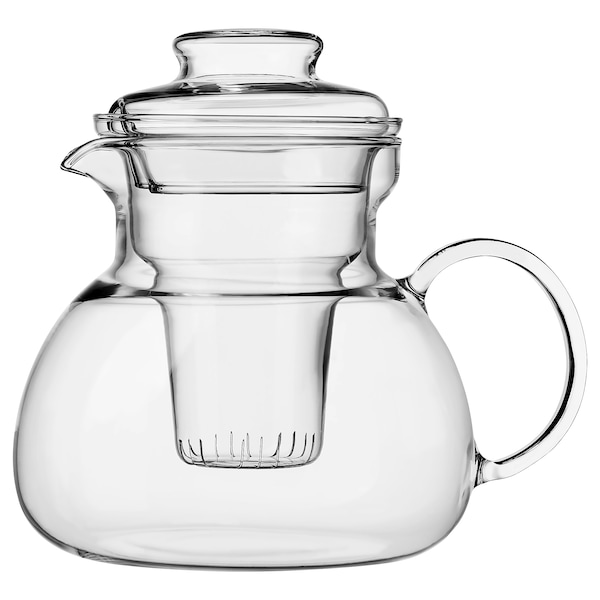 LERGODS teapot clear glass 17 cm 1.5 l