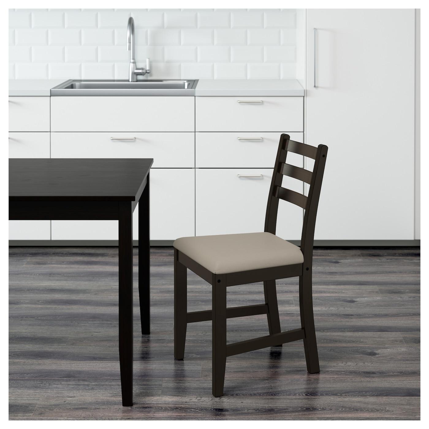 Lerhamn Chair Black Brown Ramna Beige