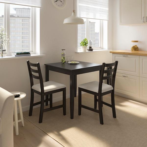 Lerhamn Table Black Brown Ikea