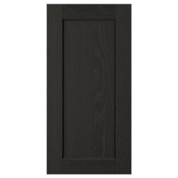 LERHYTTAN Door, black stained, 30x60 cm