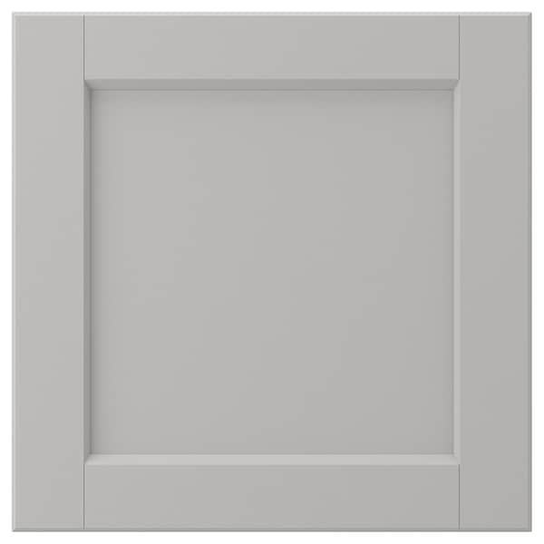 LERHYTTAN Door, light grey, 40x40 cm