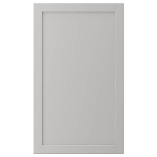 LERHYTTAN Door, light grey, 60x100 cm